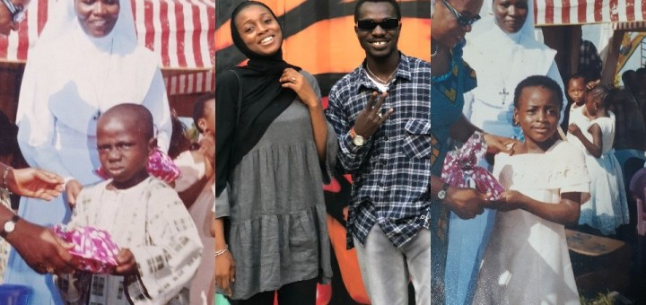 Nigerian guy and lady whose photos from the same Primary School are legendary memes online, finally link up (Photos)