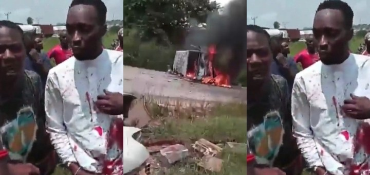 """""""Fetish"""" items found in car of two suspected Ritualists who caused Accident by driving against Traffic"""