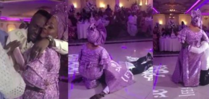 Nigerian groom goes all out to appreciate his aunt who gave him a fresh start in the U.S (Video)