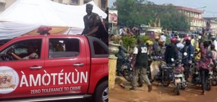 Amotekun operative allegedly kills 15 year old in Ibadan; Protest erupts