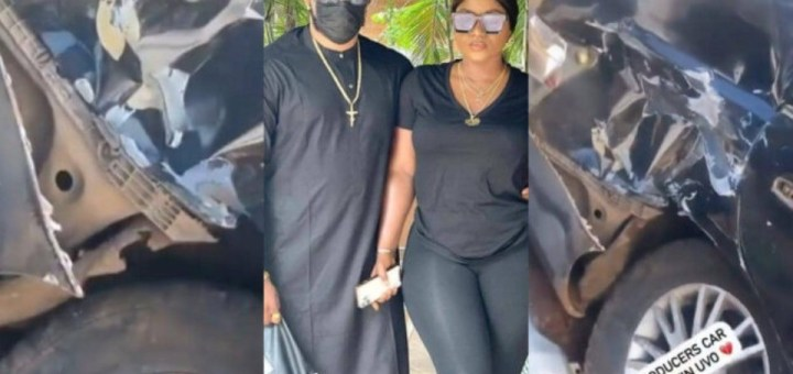 Actress Destiny Etiko and colleagues survive car accident while returning from late actor Stanley Okoro's burial (Video)