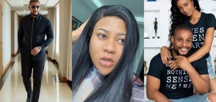 Actress Nkechi Blessing responds as Alexx Ekubo's fiancée Fancy Acholonu confirms their breakup