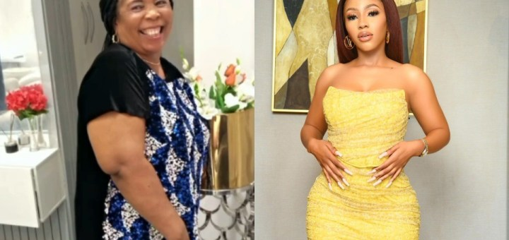 """My superwoman"" - Mercy Eke celebrates mother on her birthday (Video)"