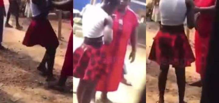 Woman assaults husband's side chick for 'sleeping with him till daybreak' (Video)