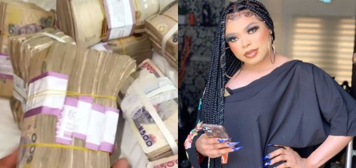Crossdresser, Bobrisky shows off cash gift he received ahead of his 30th birthday (Video)