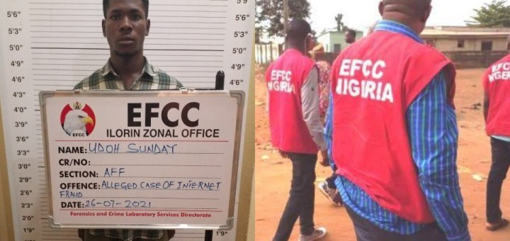 20-year-old who defrauded American of $500 on Facebook jailed for one year in Kwara state