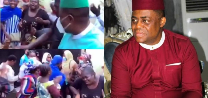 Femi Fani-Kayode receives rousing welcome from his supporters as he returns home after his defection from PDP to APC