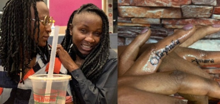 Nigerian lesbian activist Amara and wife 'tie the knot' using tattoos