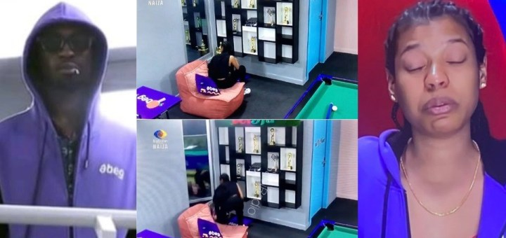 #BBNaija 2021: Honestly am not joking this time, open this door - Saga tells Biggie so he can search for his love interest, Nini (Video)