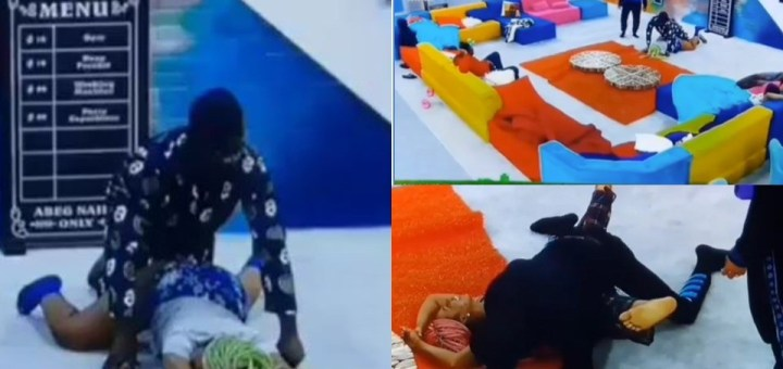 #BBNaija 2021: Things get raunchy in the house as housemates show off their favourite S3x Positions (Video)