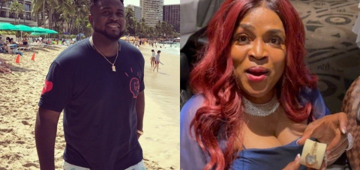 Davido's brother, Adewale Adeleke gifts mother a Rolex on her birthday