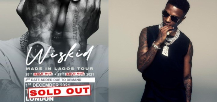 Singer, Wizkid sells out his 3rd O2 arena concert in just 35 minutes