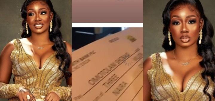 BBNaija star Tolanibaj receives N3million as birthday gift from fans (Video)