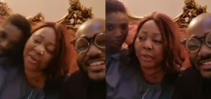 """""""May God let peace and love reign in this family"""" - Senator Ita Giwa writes after spending the night with 2baba and his wife, Annie (Video)"""