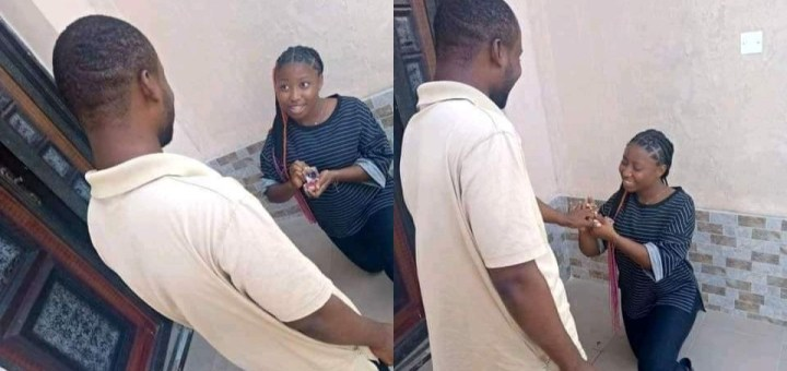 I can't afford to lose you - Lady proposes to boyfriend
