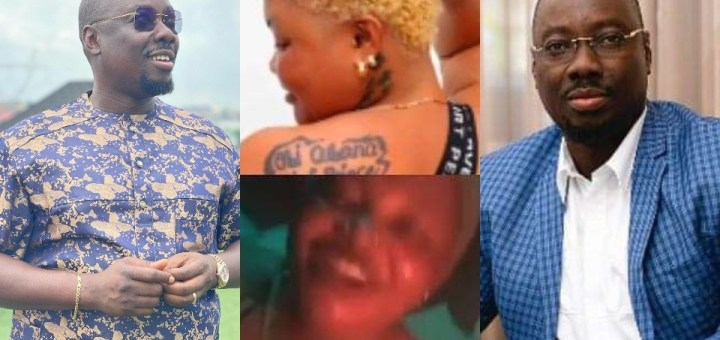 Reactions as billionaire, Obi Cubana replies lady who drew tattoo of him at her back (Screenshot)