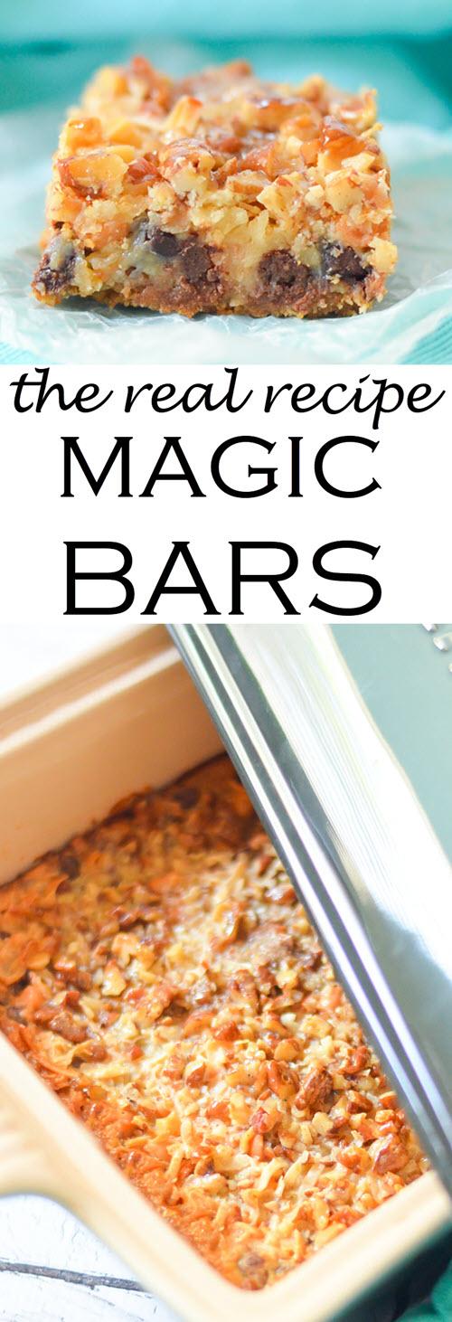"The Real Magic Bar Recipes {Seven Layer Bars} w. Butterscotch, Coconut, + Graham Cracker Crust #dessert #traditionalrecipes #bars #cookies #cookierecipes #cookiebars #recipes #foodblogger #foodblog"""