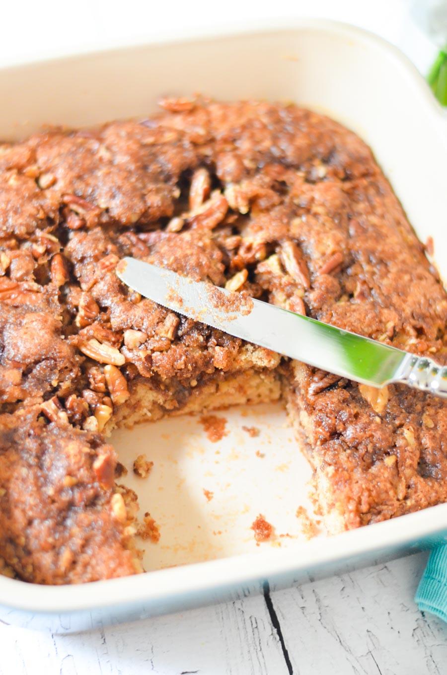 Homemade Cinnamon Coffee Cake with Streusel Crumb Topping
