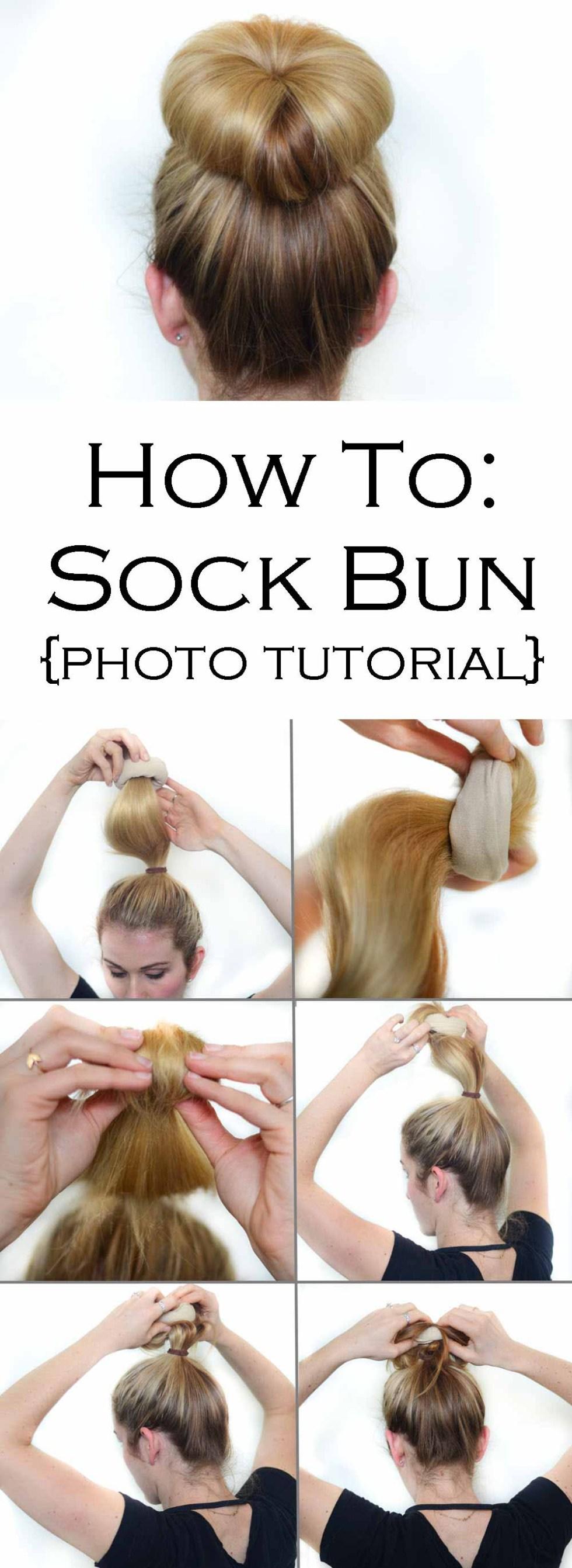 Sock Bun Tutorial #hair #longhair #hairtutorial #sockbun #updo #updotutorial #beautyblog #beautyblogger