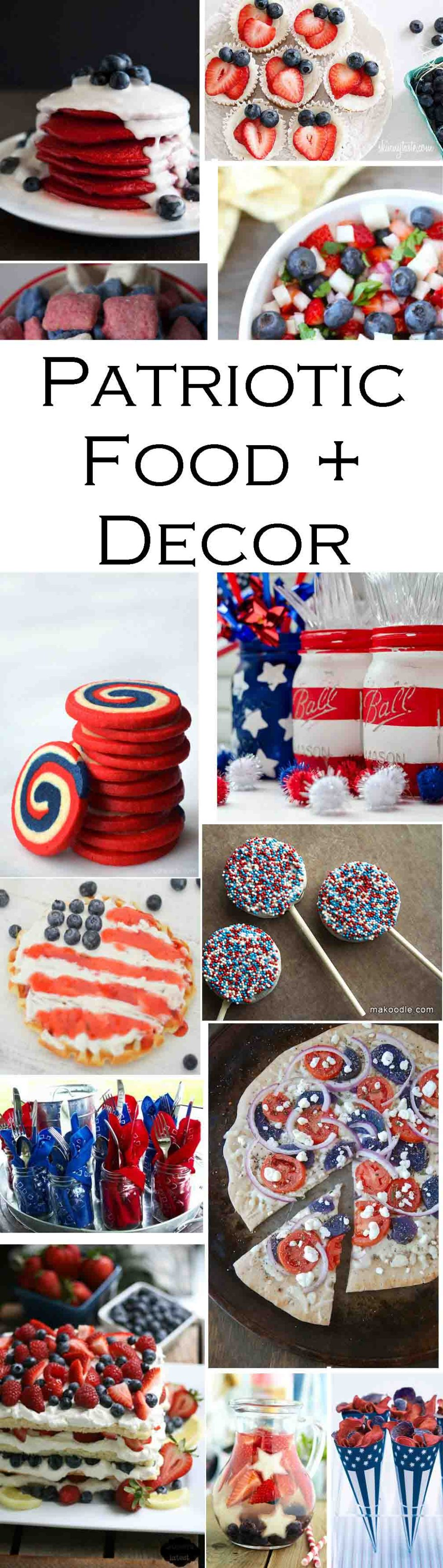 Red, White, + Blue Patriotic Food + Decor - Red, White, + Blue Breakfast Recipe - Patriotic Treats + Snacks #patriotic #july4threcipes #fourthofjuly