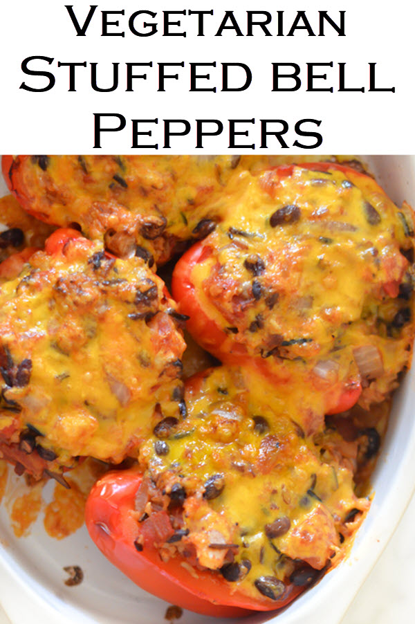 Homemade Stuffed Peppers with Rice. Vegetarian Mexican dinner recipe with wild rice. #LMrecipes #fajitas #mexicanfood #tacotuesday #dinner #dinnerideas #foodblog #foodblogger