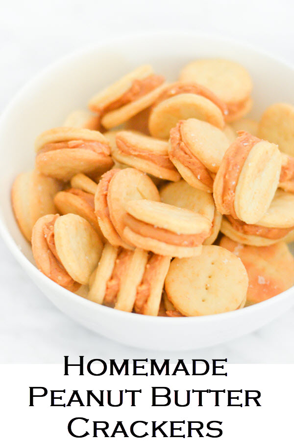 Homemade Peanut Butter Crackers Sandwiches Recipe #recipe #kidfriendly #kidsfood #LMrecipes #peanutbutter #foodblog