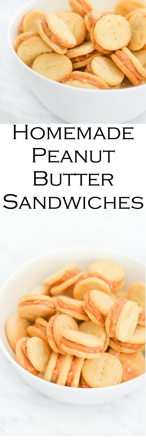 Homemade Ritz Peanut Butter Cracker Sandwiches Recipe. A fun homemade recipe for a classic favorite. This recipe is the most authentic homemade ritz cracker you can get! #recipe #kidfriendly #kidsfood #LMrecipes #peanutbutter #foodblog
