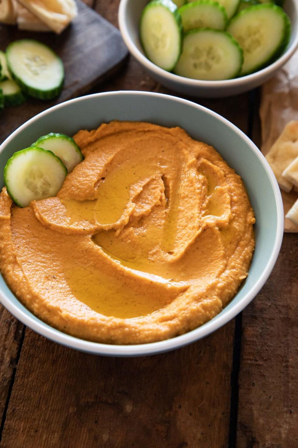 Sweet Potato Hummus in Bowl