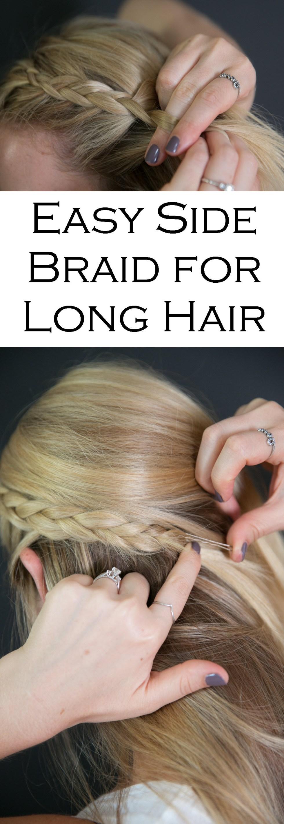 Easy Side Braids for Long Hair