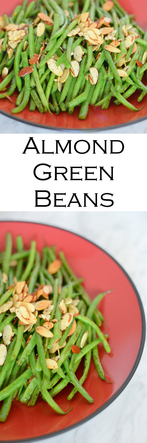 Almond Green Beans. This green bean almondine recipe is simple and easy. A great Christmas and Thanksgiving side dish. #LMrecipes #vegetables #greenbeans #sidedish #plantbased #vegan #vegetarian #healthy #chirstmasdinner #thanksgiving #thanksgivingdish #foodblog