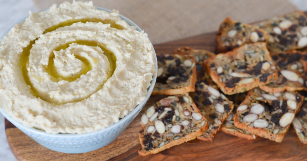 13 Healthy Holiday Side Dishes + Appetizers - Roasted Cauliflower White Bean Vegan Hummus