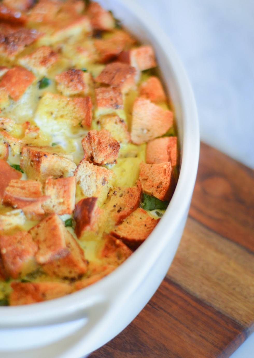 Healthy Vegetable Bread Pudding