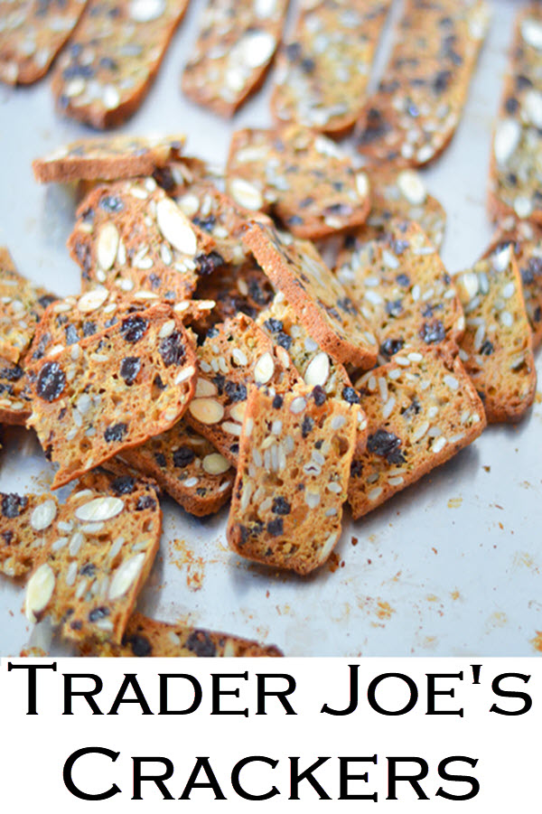 Trader Joe's Crackers Copycat Recipe. A fun Trader Joe's copycate recipe for delicious nut & seed crackers. These raisin crackers with rosemary are great on their own or with a spread!