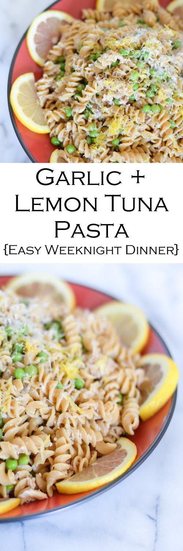 Canned Tuna Recipe Garlic Lemon Pasta Luci S Morsels