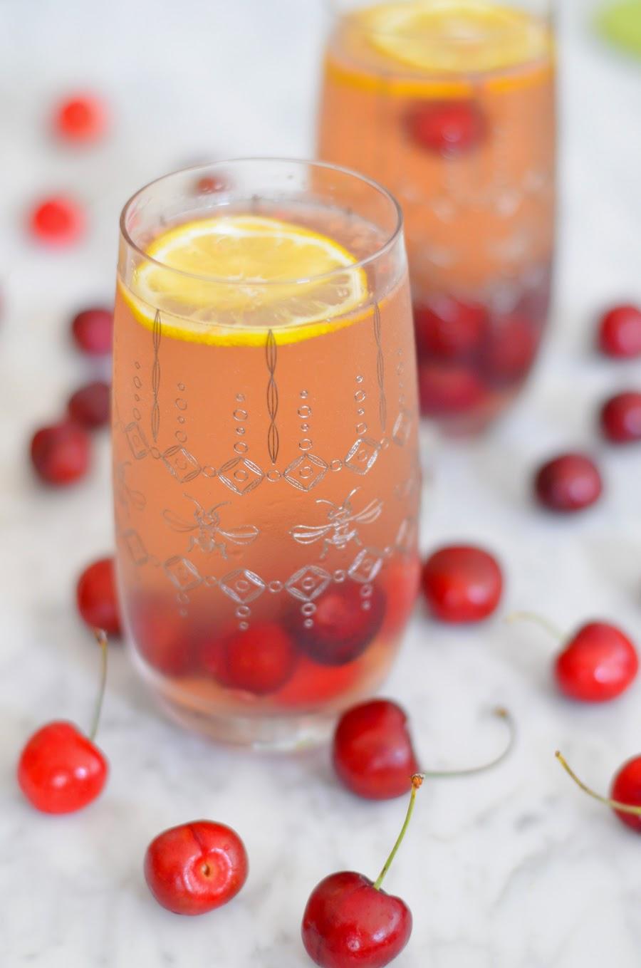 Cherry Sangria w. Chardonnay + Elderflower