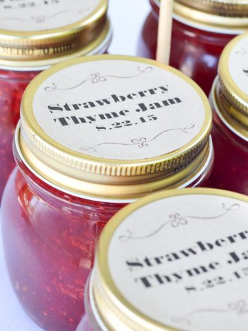 Strawberry Thyme Jam Recipe | Homemade Wedding Favors