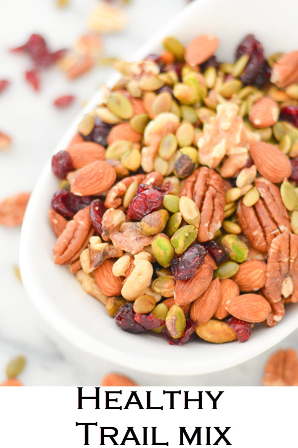 Trader Joe's Trail Mix. An easy copycat recipe for the Omega-3 Trek mix from Trader Joe's. This healthy trail mix has almonds, pecans, cranberries, and pistachios!