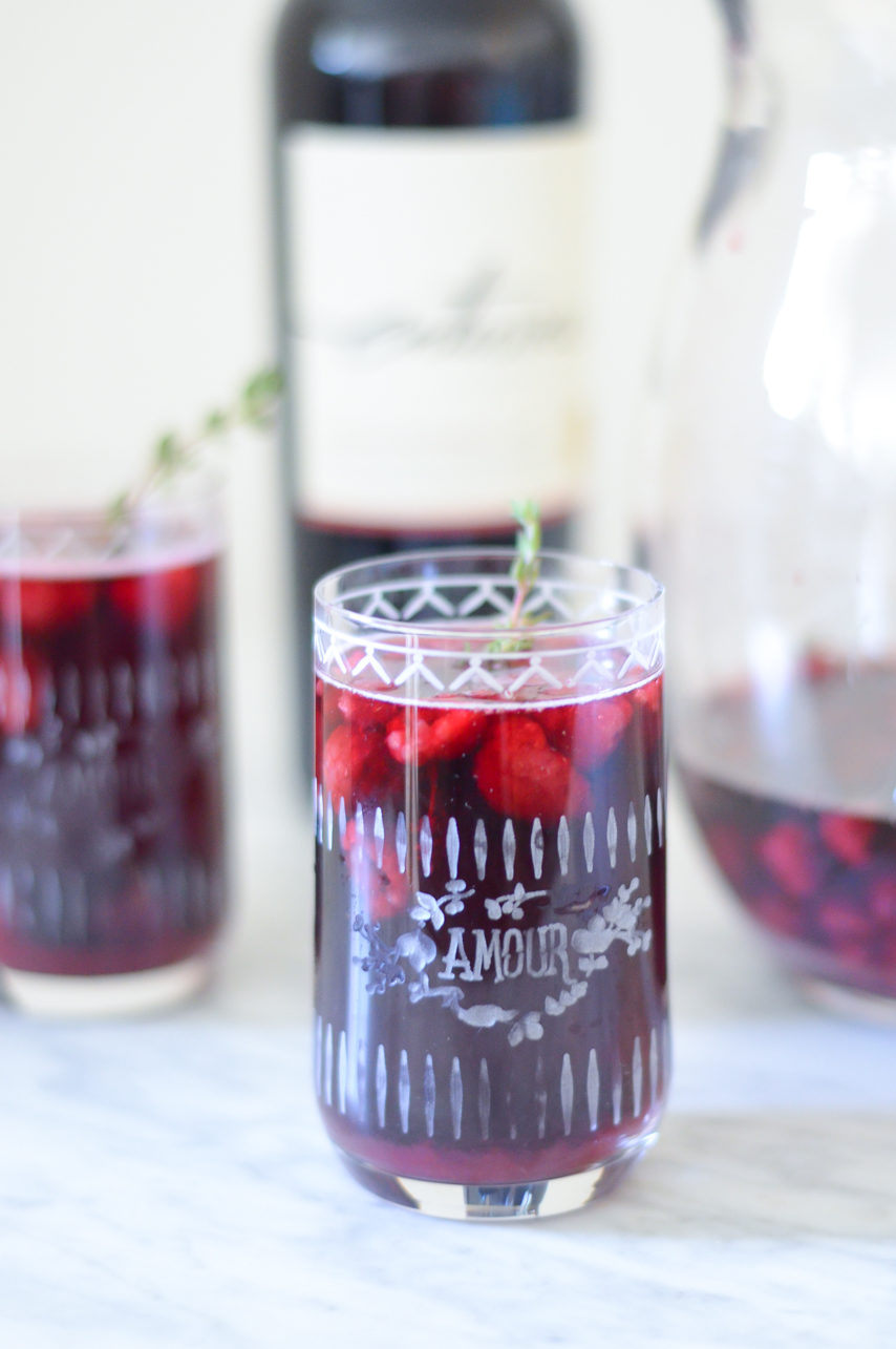 Raspberry Sangria w. Thyme