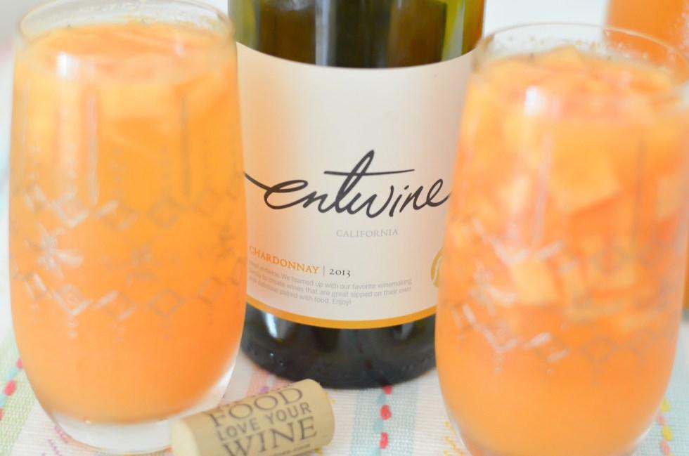 Cantaloupe Chardonnay Sangria