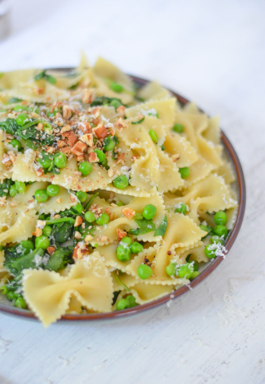 One Pot Peas + Pasta Dish