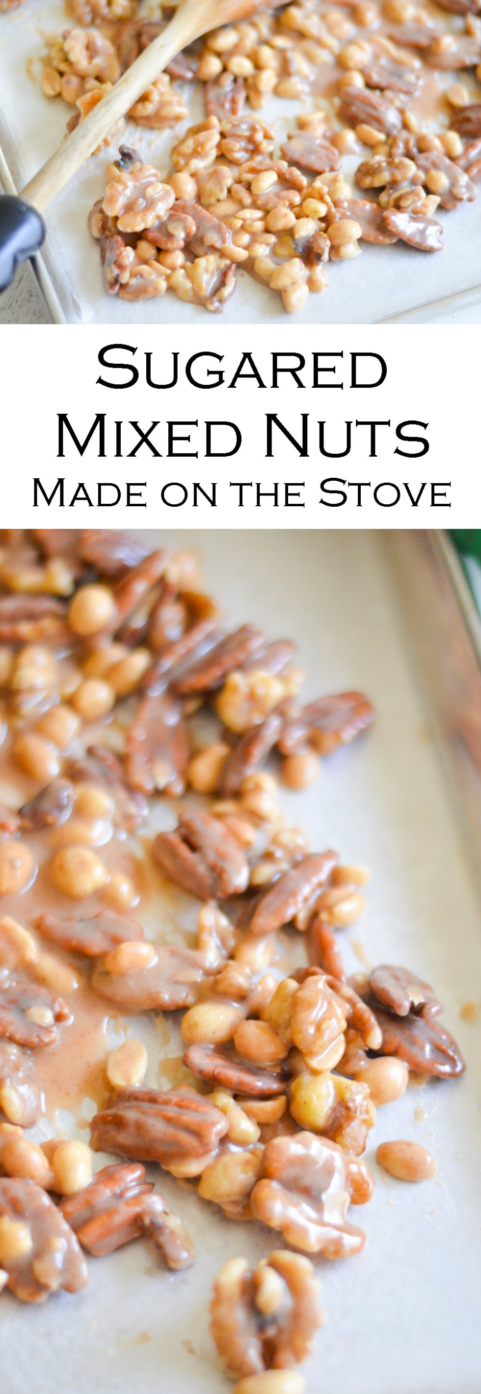 Sugared Mixed Nuts on Stovetop