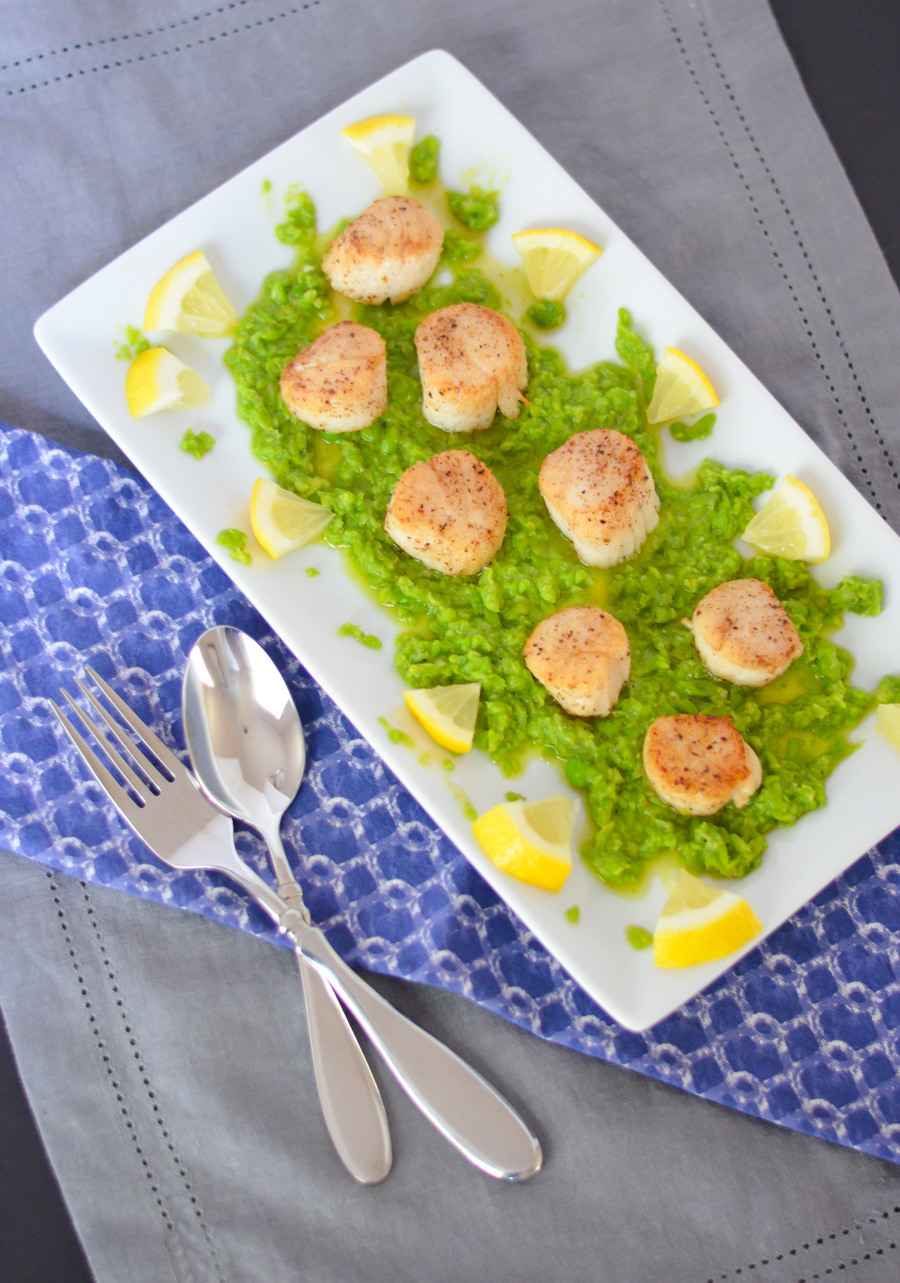 How to Cook Scallops on Stove | Seared Scallops Recipe | Pea Pesto Appetizer