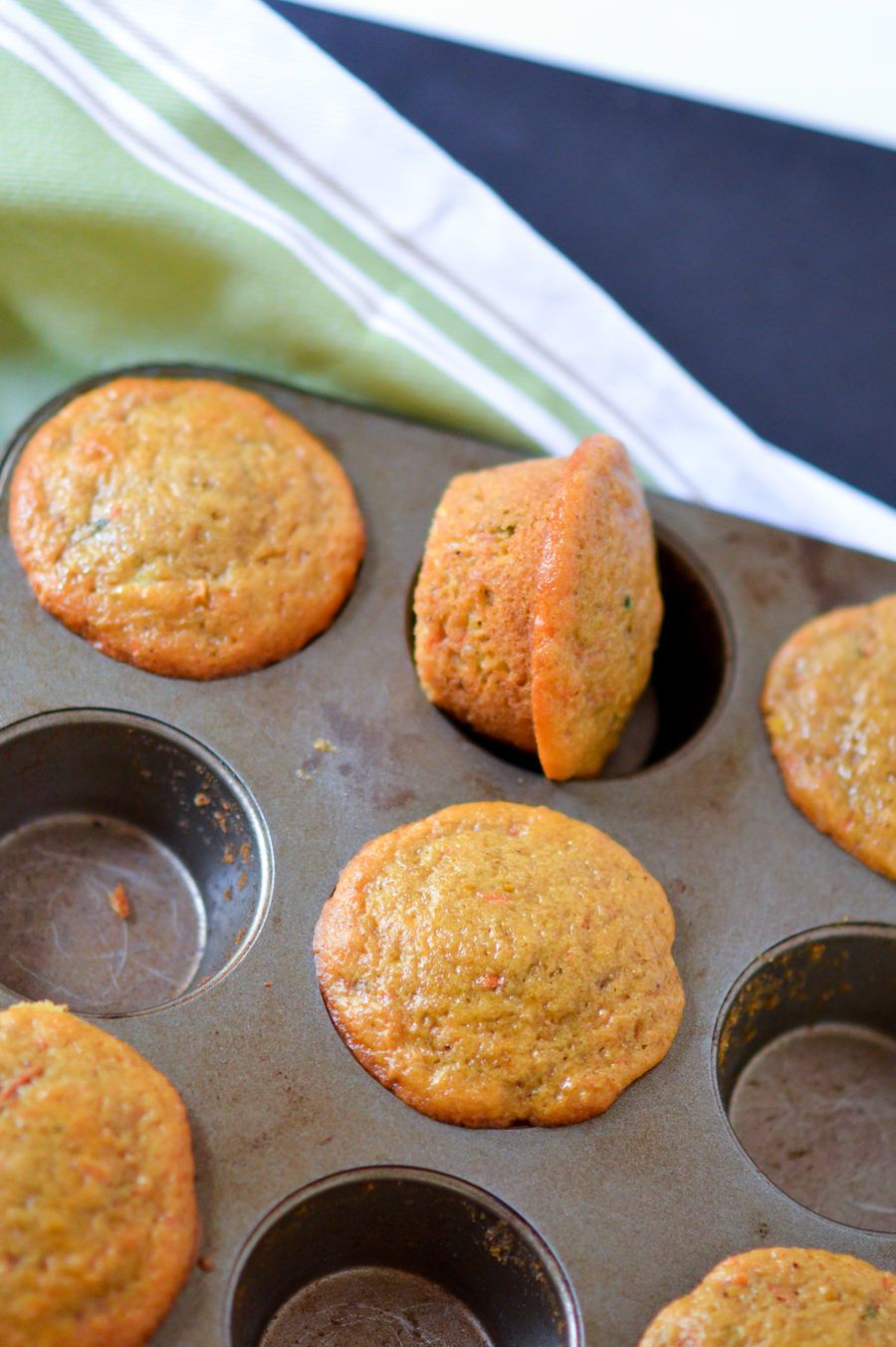 Orange + Carrot Healthy Breakfast Muffins