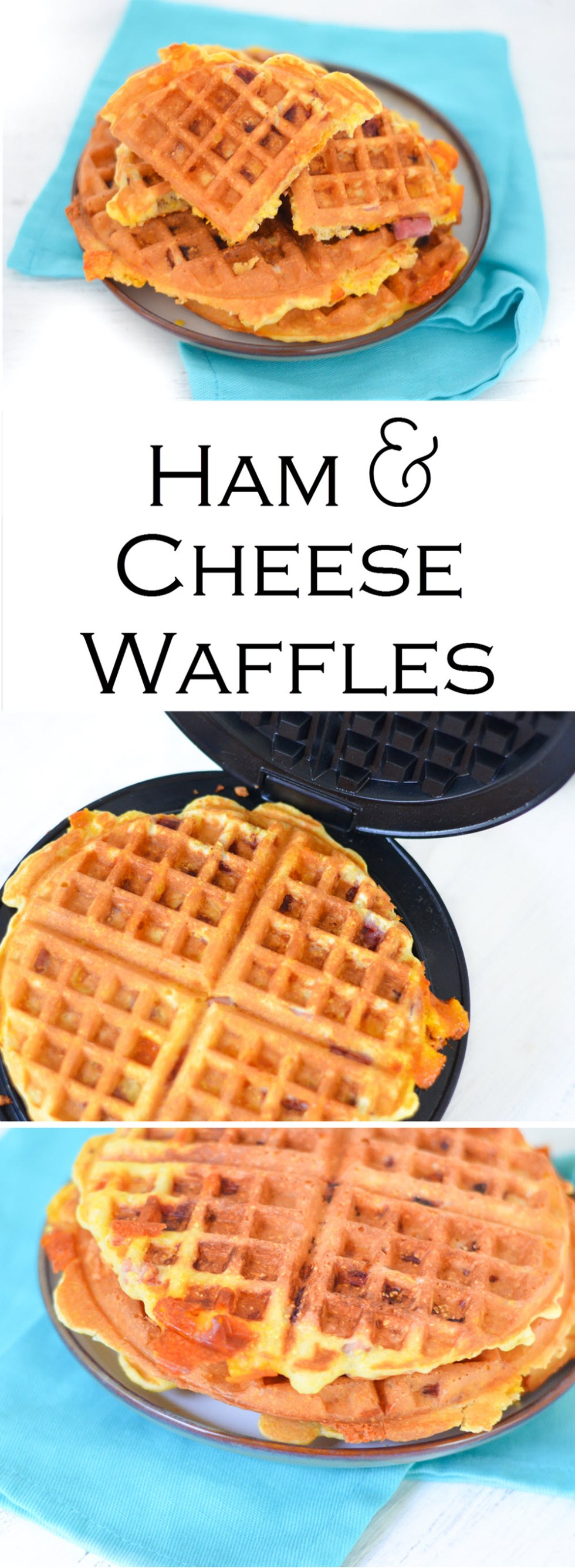 Ham and Cheese Waffles (Use up Leftover Ham!)| Luci's Morsels