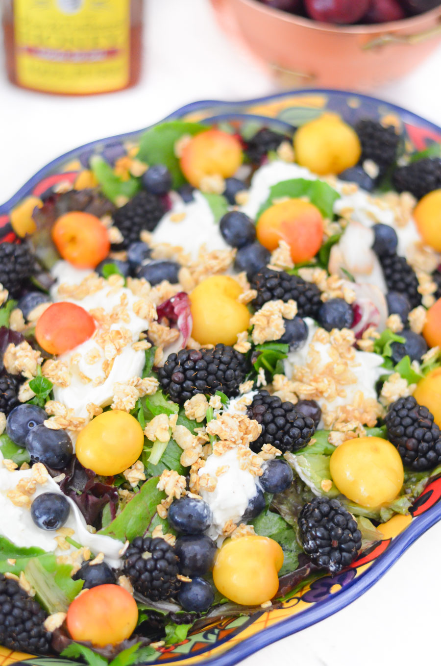 Berry + Burrata Salad - Breakfast Salad Recipe with Fresh Summer Fruit