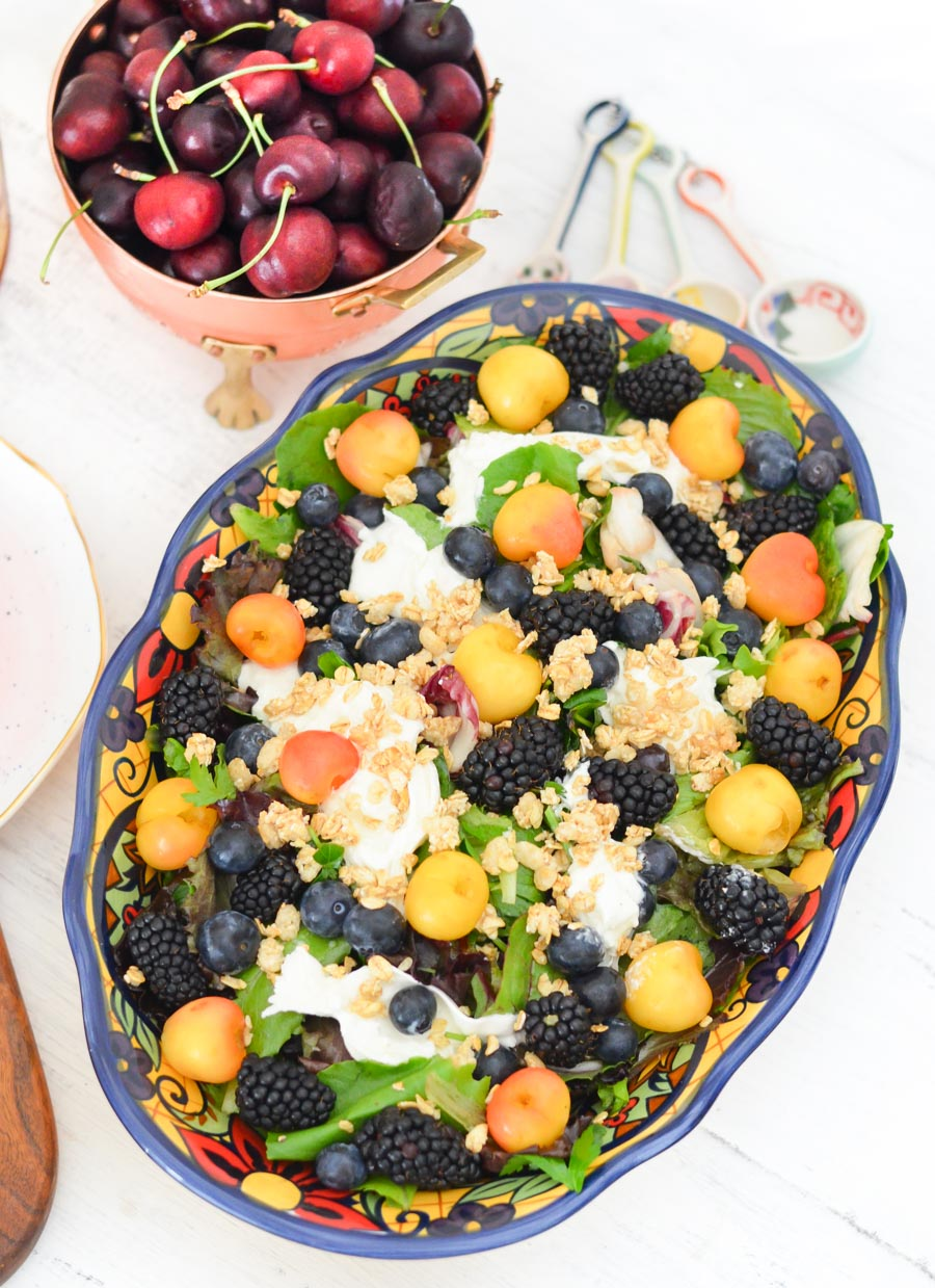 Berry, Burrata Breakfast Salad