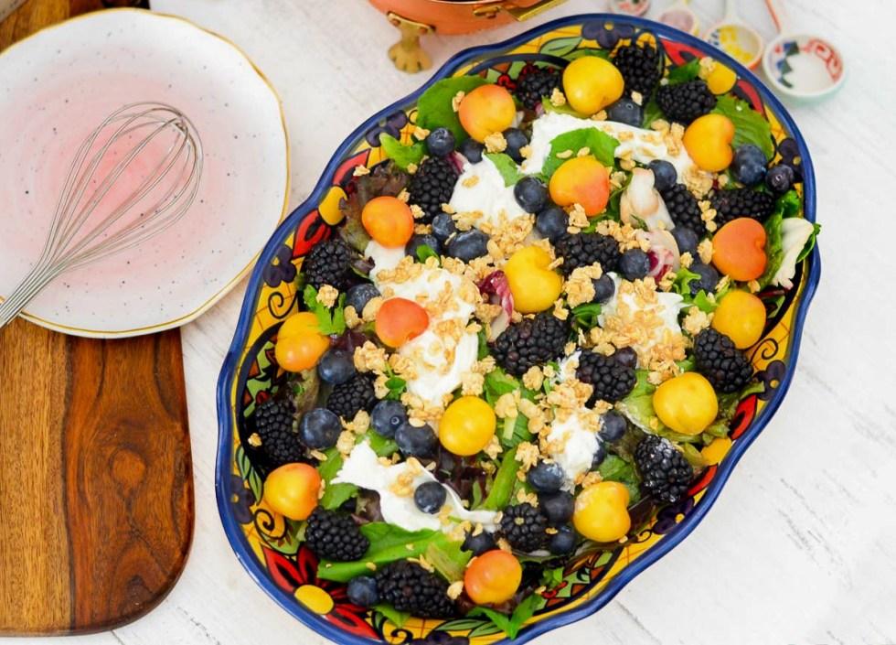 Breakfast + Brunch Fruit Burrata Salad
