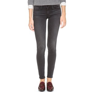 Frame 'Le Skinny' Sateen Skinny Jeans (Knightrider)