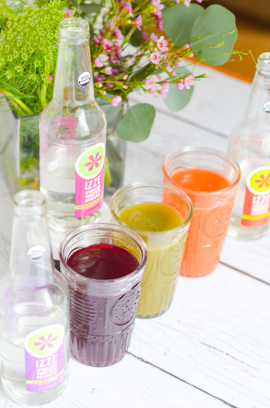 Sparkling Juice Refreshers with IZZE Sparkling Water   Drink Recipe
