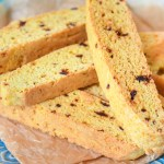 Homemade Orange Biscotti w. Dried Dates + Vanilla
